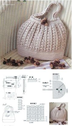 Bag crochet with graphics ~ Crochet Here