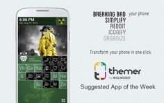 Give your android phone a makeover everyday with our suggested app of the week - Themer ~ via cybershack.com