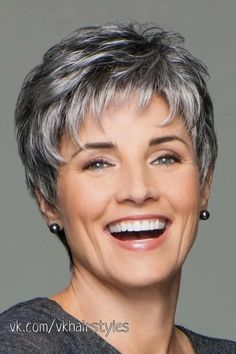 Short pixie cut ombre silver grey wigs for men natural gray hair short wavy wig Short Hairstyles For Thick Hair, Short Grey Hair, Short Straight Hair, Short Pixie Haircuts, Short Wavy, Pixie Hairstyles, Short Hairstyles For Women, Short Hair Cuts, Curly Hair Styles