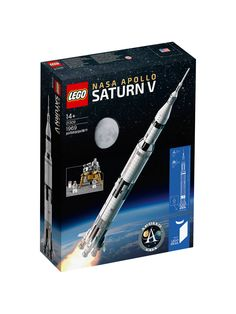 """The countdown has begun for the launch of LEGO's Saturn V moon rocket. LEGO rolled out its first photos and filed its """"launch plan"""" for the """"NASA Apollo Saturn V"""" model set to be released on June The set is based on a fan submission on LEGO Ideas. Lego Store, Shop Lego, Nasa, Apollo 11, Apollo Rocket, Lego Duplo, Lego Sets, Legos, Lego Mini"""