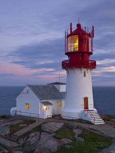 The Idyllic Lindesnes Fyr Lighthouse, Lindesnes, Norway Fotografie-Druck von Doug Pearson bei AllPosters.de Source by egippert Lighthouse Lighting, Lighthouse Pictures, Beacon Of Light, Water Tower, Norway, Places To Go, Beautiful Places, Around The Worlds, House Styles