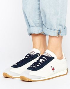Order Le Coq Sportif White Leather Quartz Sneakers online today at ASOS for fast delivery, multiple payment options and hassle-free returns (Ts&Cs apply). Get the latest trends with ASOS. Metallic Sneakers, New Sneakers, Girls Sneakers, Baskets En Cuir, Travel Shoes, Plimsolls, Clearance Shoes, Sneaker Brands, Trendy Shoes