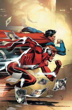 """TITANS_7Hogar dulce hogar""""!  Una nueva amenaza trae cara Wally West a cara con el hombre de acero, y los dos se reconocen mutuamente como almas gemelas de otro mundo.  Además, los Titanes establecieron su nueva torre en la ciudad de Nueva York!"""