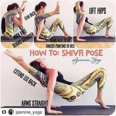 "2,069 Likes, 26 Comments - Yoga Asanas ॐ Tips & Tutorials (@yogaalignment) on Instagram: "" Shiva Pose on @yogaalignment . #yogatutorials with @jasmine_yoga ・・・ #JasmineYogaTutorial :…"""