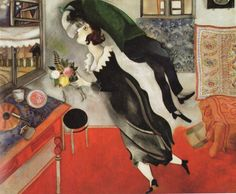 Birthday by Marc Chagall, 1915 http://lunghe.blogspot.tw/2010/10/marc-chagall-i.html