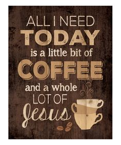 Another great find on #zulily! 'Little Bit of Coffee' Distressed Wood Wall Art #zulilyfinds