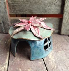 Small Fairy House by DawnDavareDesigns on Etsy, $28.00