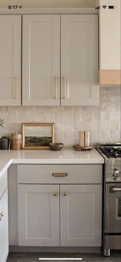 Updated Kitchen, New Kitchen, Kitchen Dining, Earthy Kitchen, Two Tone Kitchen, Neutral Kitchen, Home Decor Kitchen, Kitchen Interior, Home Kitchens