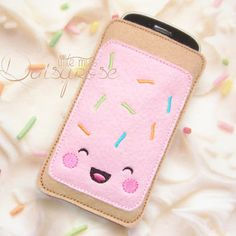 This is an already made Phone Case. It looks a bit small for the phone, but maybe you can push it down so it can fit. It is very important that the phone fits into your case perfectly, otherwise it could fall out and smash your phone :(