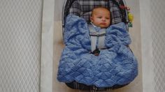 Mary Maxim - Car Seat Blankie - Perfect for your little one on the go. Includes opening in blankie for straps. Shown in Lt. Free Knitting, Baby Knitting, Crochet Baby, Knit Crochet, Car Seat Blanket, Afghan Blanket, Knitted Baby Outfits, Knitted Baby Blankets, Baby Afghans