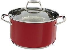 KitchenAid KCS60LCER Stainless Steel 60Quart Low Casserole with Lid Cookware  Empire Red * For more information, visit image link.  This link participates in Amazon Service LLC Associates Program, a program designed to let participant earn advertising fees by advertising and linking to Amazon.com.