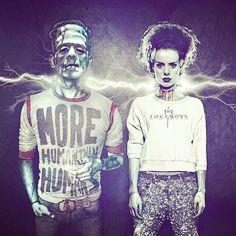 Modern Frankenstein and bride
