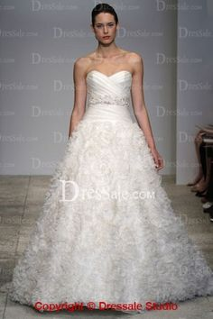 Extraordinarily Ruched Wedding Dress in 2013