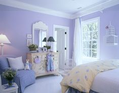 Looking for the best house plans? Check out the Carolina Island House plan from Coastal Living. Room Ideas Bedroom, Bedroom Colors, Home Bedroom, Bedroom Decor, Purple Bedrooms, Blue Rooms, White Rooms, Periwinkle Room, Lilac Room