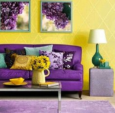 yellow and purple are great because they are compliments