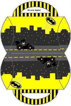 Batman in Black and Yellow: Free Printable Boxes. - Batman Printables - Ideas of Batman Printables - Batman in Black and Yellow: Free Printable Boxes. Batman Birthday, Batman Party, Superhero Party, Printable Box, Printables, Pillow Box Template, Box Patterns, Diy Gift Box, Party Kit