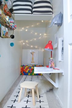 There have been a quite few projects in our house that have lingered on for years. Projects that I have left half complete. The ones that have been missing the finishing touches for far longer than I care to admit. One of those spaces was our under-the-stairs closet turned playroom. After over