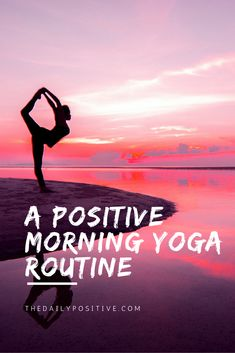 Love these simple six morning yoga tips for your morning to make yourself feel better and more positive.