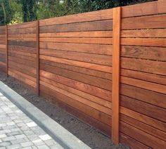 Wonderful Horizontal Wood Fence Panels Building A Horizontal Plank Fence Horizontal Fence Modern Wood Fence, Wooden Fence Panels, Wood Privacy Fence, Wood Fence Design, Modern Fence Design, Privacy Fence Designs, Diy Fence, Backyard Fences, Backyard Landscaping