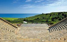 Teatro greco-romano Kourion, em Limassol, na ilha de Chipre.  Fotografia: F. Cappellari.