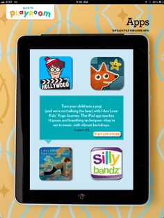 Parents Magazine- Turn your child into a yogi (and we are not talking about the bear) with Kids Yogaverse: I AM LOVE. The iPad app teaches 13 poses and breathing techniques  they've set to music with vibrant backdrops.