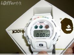 2b66d805c80 WHITE BAPE CASIO G SHOCK DW6900 WATCH A BATHING APE NEW G Shock Dw6900
