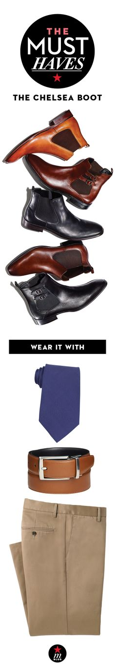 Fall 2015 Must-Have: The Chelsea Boot. How to Wear It: Chelsea boots work for so many occasions. Rock them with an easy sweater-denim combo or take them to the office with a crisp dress shirt and chinos.