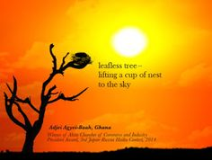~A~f~r~i~k~u~l~a~n~d~: Done for Akita International Haiku Network Leafles...