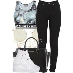 7|9|15 by miizz-starburst on Polyvore featuring polyvore fashion style Dr. Denim Vans MICHAEL Michael Kors Forever 21