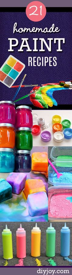 Homemade Crafts for Kids - Fun DIY Paint Recipes Your Kids Will Love #artsandcraftsforboys