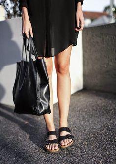 Look, outfit, streetstyle, estilo, birkenstock, birken, shoes, sapato, sandalia, black, preto