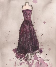 Print  Watercolor and Charcoal Painting  by laurenspaintpalette, $20.00