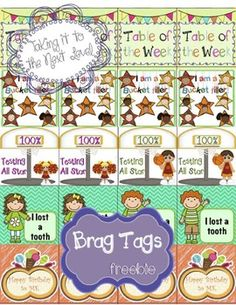 Brag tags, 1st day and 1st day of school on Pinterest