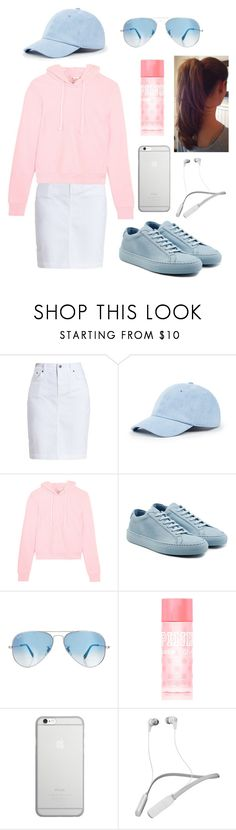 """Pink And Blue—Cotton Candy"" by kaitydidwhat ❤ liked on Polyvore featuring Barbour, Sole Society, Vetements, Common Projects, Ray-Ban, Victoria's Secret PINK, Native Union and Skullcandy"