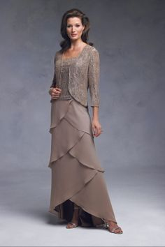 Mature, Two piece, Sheath Mother of the Bride Dress, Quality Unique Mother of the Bride Dresses - Dressale.com