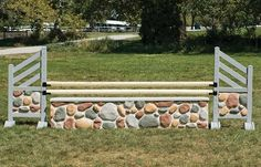 River rock molded wall horse jump. Looks real, durable, and lightweight!