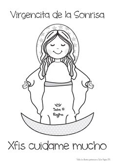 Resultado de imagen para virgen del carmen caricatura