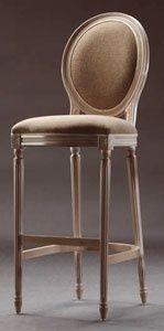 Tabouret de bar de style Louis XVI en bois de hêtre - LUIGI XVI barstool 8023B