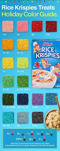 Rice Krispies were made to make a festive rainbow of holiday creations - from green Christmas trees to blue Hanukkah stars to red-wrapped presents. Just start with the original treats recipe and add some imagination. Christmas Desserts, Holiday Treats, Holiday Recipes, Christmas Candy, Holiday Baking, Christmas Baking, Cake Candy, Reis Krispies, Sweet Treats
