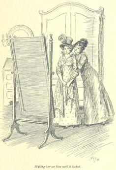 Jane Austen Mansfield Park - making her see how well it looked Jane Austen Mansfield Park, People Illustration, Illustration Art, Book Illustrations, Art Hoe Aesthetic, Jane Austen Novels, Mary Sue, Classic Literature, Modern Artists