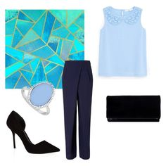 """In blue"" by adri-98 on Polyvore featuring Rejina Pyo, MANGO, KG Kurt Geiger and LoveBrightJewelry"