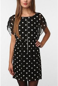 Polka Dot Chiffon Dress DEAR EVERYTHING WITH POLKA DOTS, please make your way to my closet