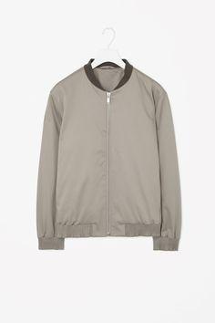 Ribbed-edge cotton jacket