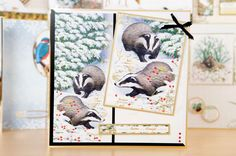 Gorgeous card made using the Winter Wildlife Ultimate Bundle from @Hunkydory Crafts! / cardmaking / papercraft / scrapbooking / craft / Christmas