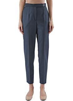 LANVIN Women'S Slim Central Pleat Pants In Grey. #lanvin #cloth #