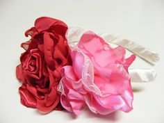 Lipstick Floral Headband by chickapeecreations on Etsy, $19.95