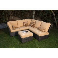 This awesome outdoor sofa will just fit under the Pergola. Changing up the pillows to something more colorful though.