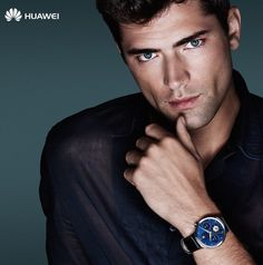 """Huawei enlists model Sean O'Pry for the advertising campaign for the launch of its new """"smartwatch"""", a stylish watch which embraces the """"smart technology"""". Stylish Watches, Watches For Men, Sean O'pry, Huawei Watch, How To Look Handsome, Attractive Guys, Down South, Advertising Campaign, Male Models"""