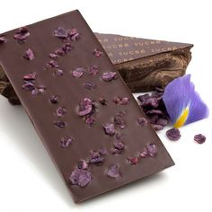 Roses are red, violets are blue, and New Orleans-based Sucre candies both flowers for its gorgeous chocolate bars. Candied violets stud dark chocolate in one bar, while candied rose petals and Sicilian pistachios top milk chocolate in another.