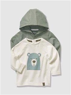 Lote de 2 camisetas bebé niño